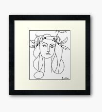 Pablo Picasso War And Peace 1952 Artwork T Shirt, Sketch Framed Print