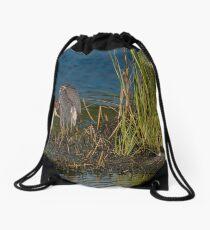 Tri-Colored Heron Drawstring Bag
