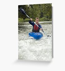 Canoeist Greeting Card