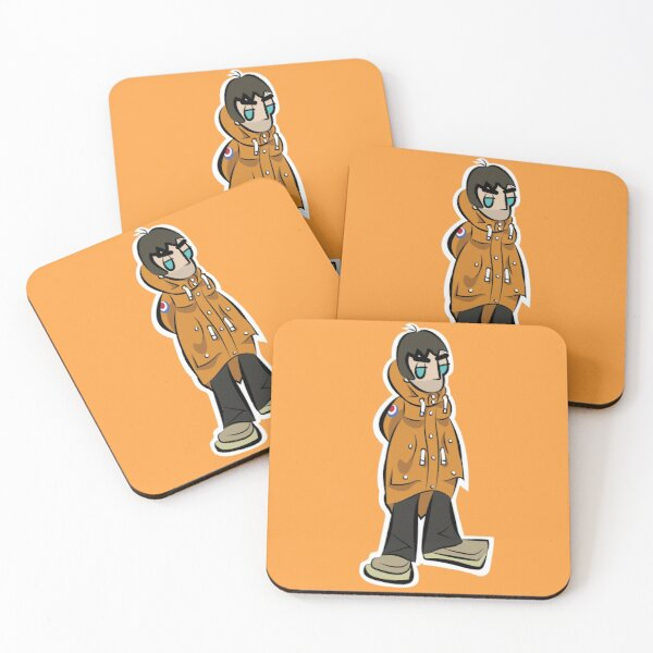 LG - Parka Monkees - Cartoon LGv1 (Love Forever - Orange Parka)  Coasters (Set of 4)