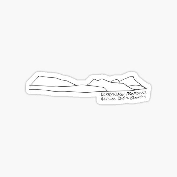 Derryveagh Mountains Sticker