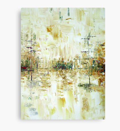 Cold Thraw Abstract landscape Canvas Print