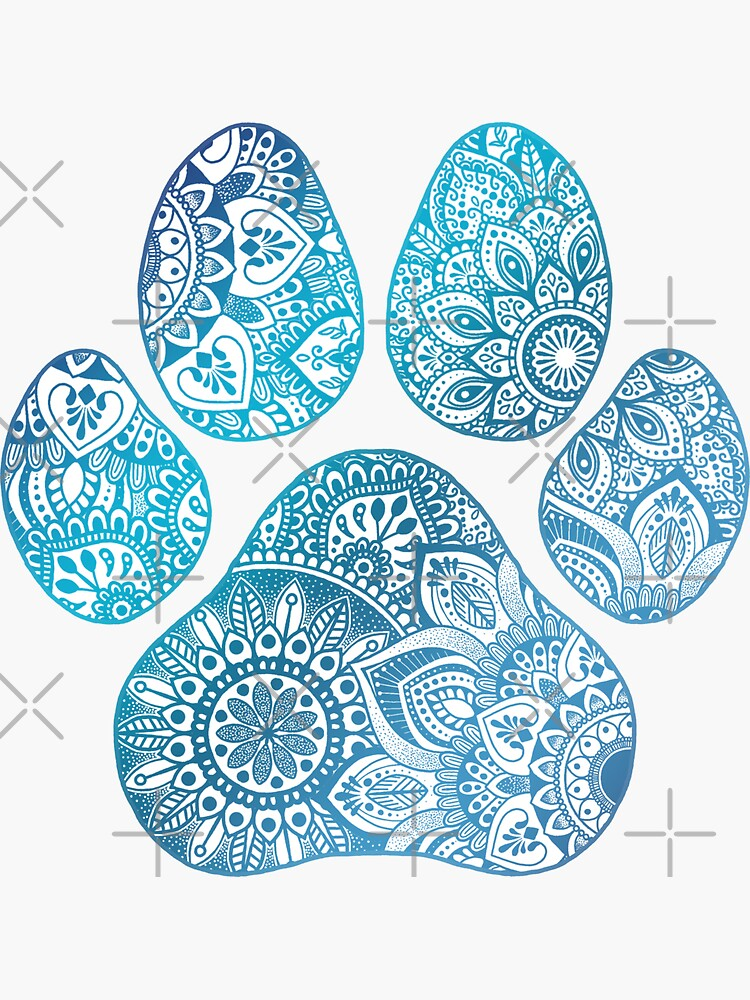 Mandala paw print  by NicoleHarvey
