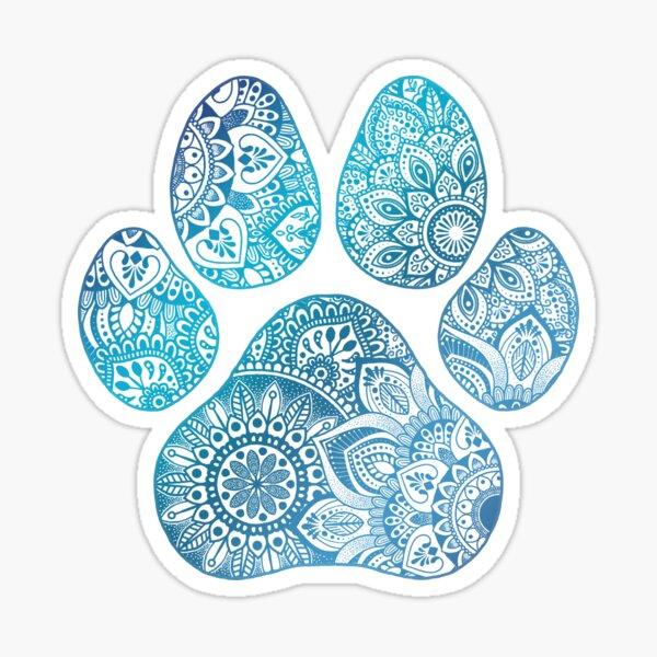 Mandala paw print  Sticker