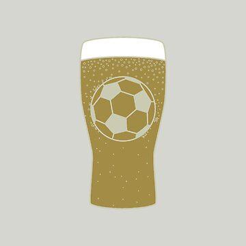 Football Pint by fundog