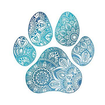 Mandala paw print de NicoleHarvey