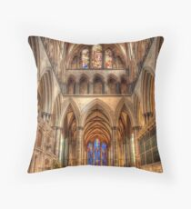 Inside Salisbury Cathedral Throw Pillow