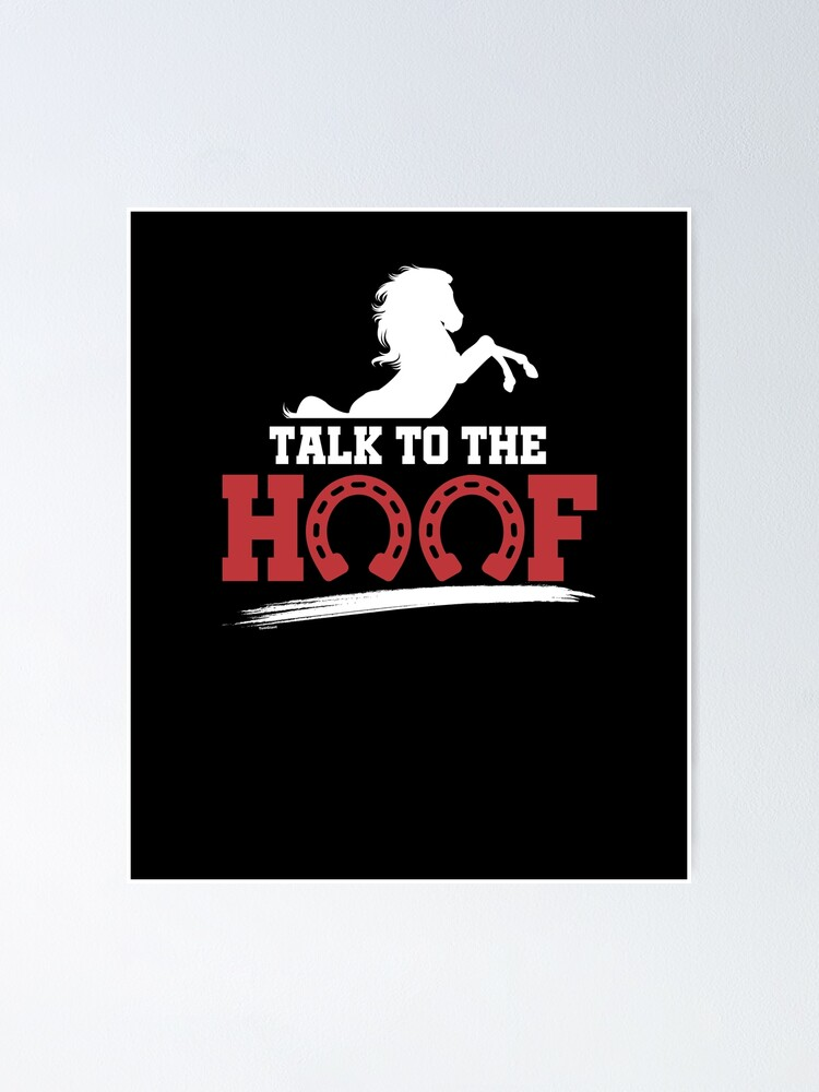 Alternate view of Horse-Talk To The Hoof Poster