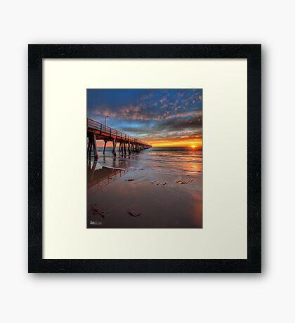 Grange Jetty Sunset - HDR Framed Print