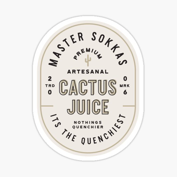 Cactus Juice Sticker