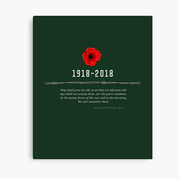 World War One Centennial Canvas Print