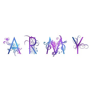 BTS ARMY:  Floral Typography by InniCo