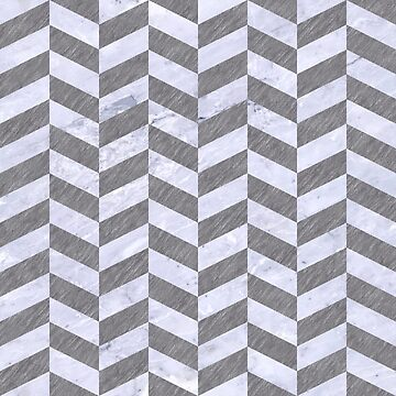 CHEVRON1 WHITE MARBLE & GRAY COLORED PENCIL by johnhunternance