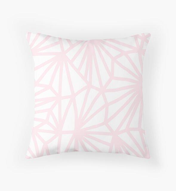 Handgemachtes minimales geometrisches Muster - Pastellrosa von Dominiquevari