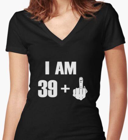 I'm 39+ Fck you! [Kobe Byrant 40th Birthday Special Edition] Women's Fitted V-Neck T-Shirt