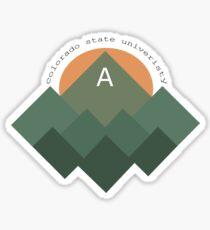 Colorado State University Mountains Sticker