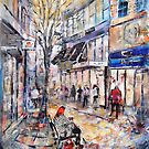 City Street Scene Painting - Norway by Ballet Dance-Artist