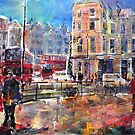 London Street Scene by Ballet Dance-Artist