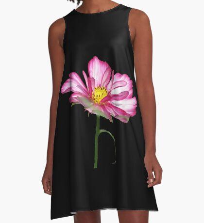 wundervolle Blume, Blüte, pink, pastell, Sommer A-Linien Kleid