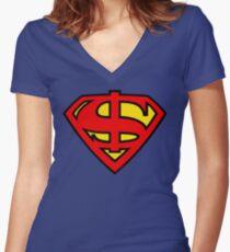 Super Dollar Women's Fitted V-Neck T-Shirt