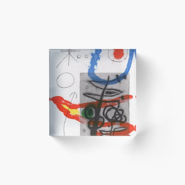 Joan Miró - Peintures sur Cartons  II Lithograph on Wove Paper 1965, tshirt, tee, jersey, poster, artwork Acrylic Block