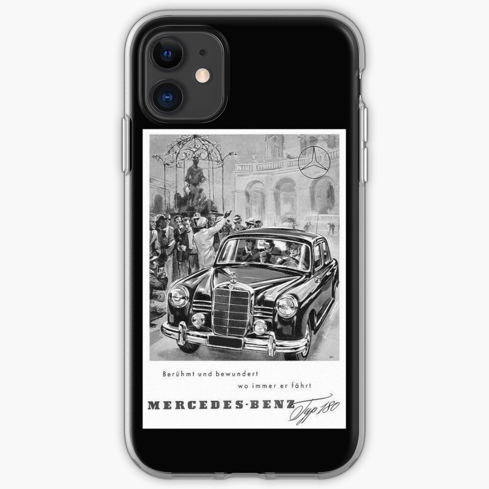 Vintage Mercedes Typ 180...Fabulous Fiftees iPhone Case & Cover