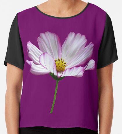 zauberhafte Blume, Blüte, pink, Sommer, pastell, violett Chiffontop für Frauen