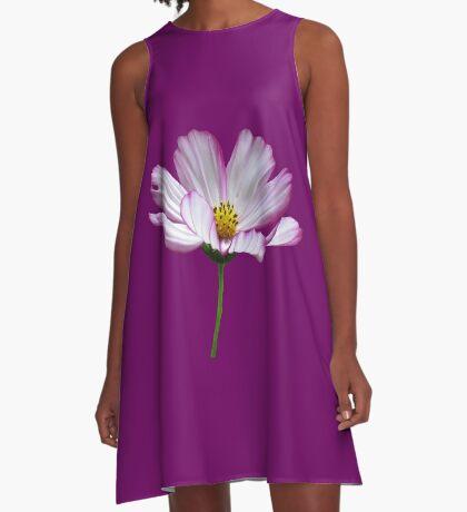 zauberhafte Blume, Blüte, pink, Sommer, pastell, violett A-Linien Kleid