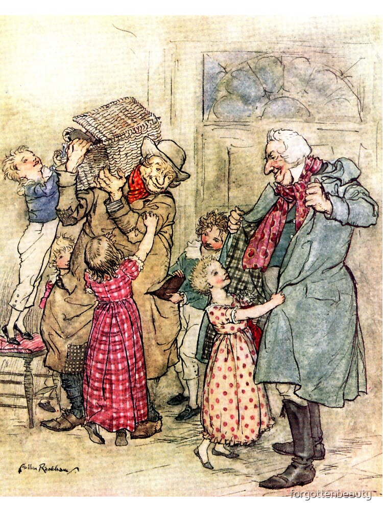 A Christmas Carol Arthur Rackham Illustrated For Charles Dickens Baby One Piece By Forgottenbeauty Redbubble