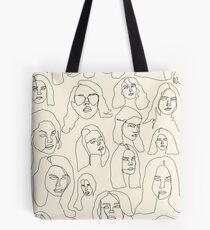 lana blind contour Tote Bag