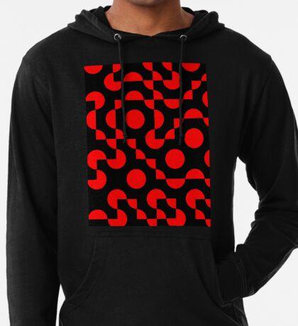 Truchet Tiles v008 Red & Black Lightweight Hoodie