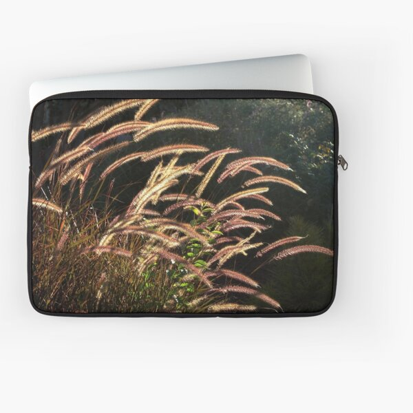 Sunset on the grass from A Gardener's Notebook Laptop Sleeve