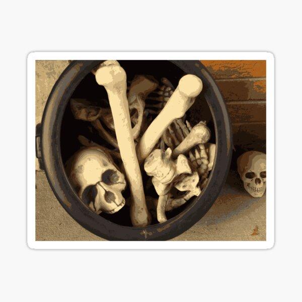 Caldron of bones. Sticker