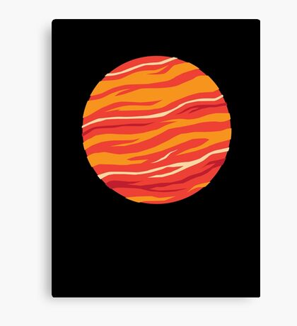 Bound for Planet Bacon… Canvas Print
