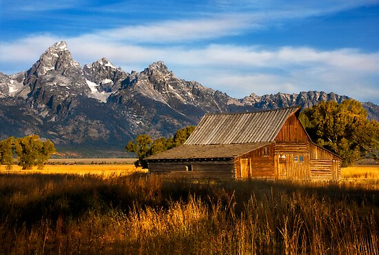 The Moulton Barn.  Mormon Row.  Jackson, Wyoming. USA. by PhotosEcosse