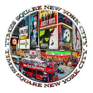 Times Square New York City Badge Emblem (on white) by RayW