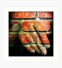 Hand + I Love Elvis Art Print