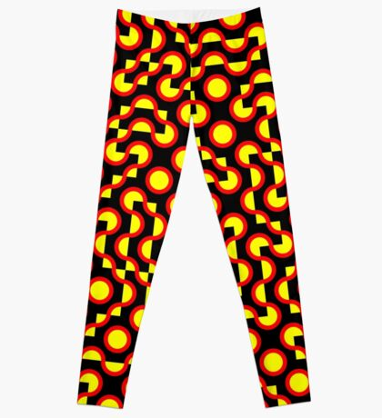 Truchet Tiles v009 - People Power Leggings