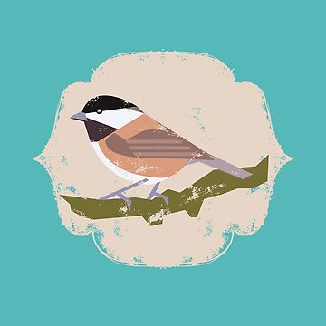 Charming Chickadee for Bird Lovers by LADGraphics
