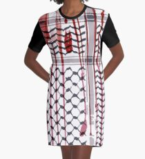 PALESTINE Graphic T-Shirt Dress