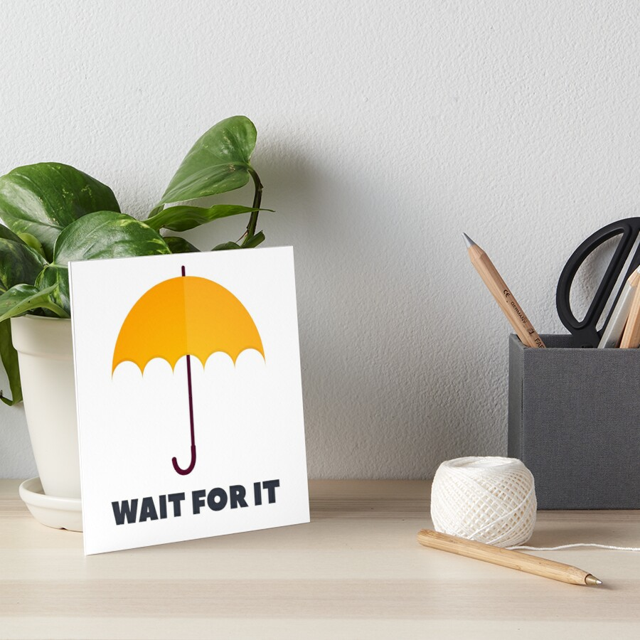 WARTEN SIE AUF - Gelber Regenschirm von HIMYM Galeriedruck