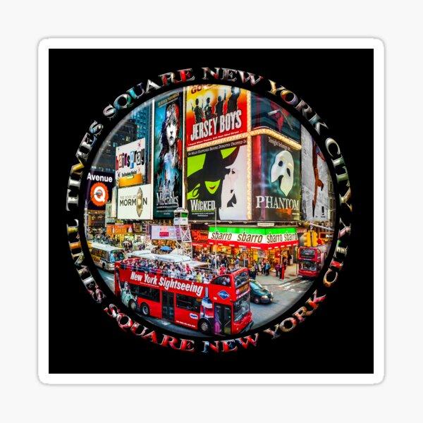 Times Square New York City Badge Emblem (on black) Sticker