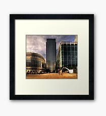 Wharf HDR Framed Print