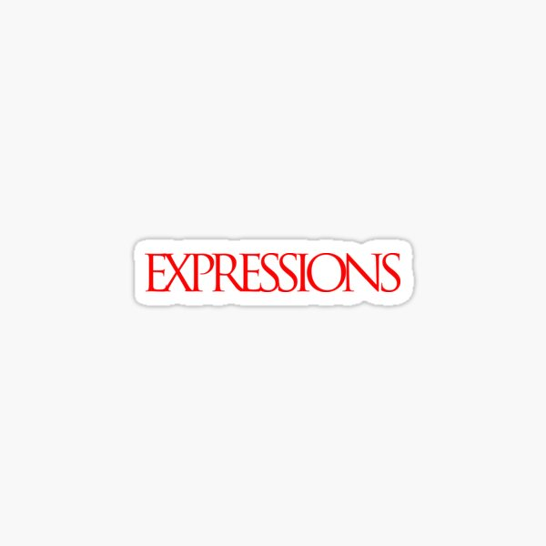 Red Expressions Logo Sticker