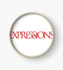 Red Expressions Logo Clock