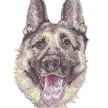German Shepherd by Yenrab
