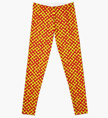 Red & Yellow Truchet Leggings