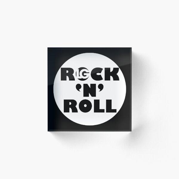 LG - The Modern Man - ROCK 'N' ROLL (WHT O) Acrylic Block