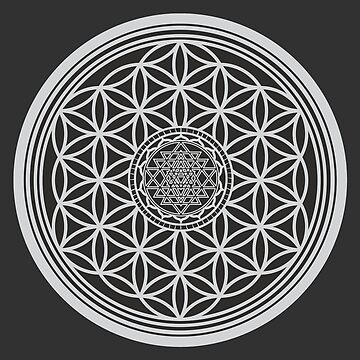 Sri Yantra and the Flower of Life by RAFAROMAN