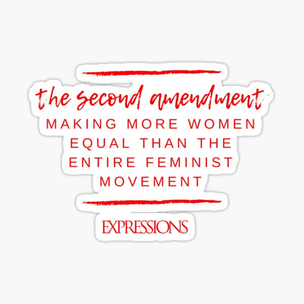 Second Amendment Equality Sticker